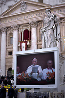Pope Francis During  'Urbi et Orbi'  in St. Peter's Square, at the Vatican. 21 April 2019