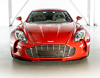 BNPS.co.uk (01202 558833)<br /> Pic: Bonhams/BNPS<br /> <br /> Sold for £1.267 million - 2011 Aston Martin One-77<br /> <br /> Super-rare Lambo leads incredible sell off an African vice presidents seized car collection.<br /> <br /> The State of Geneva impounded the 24 motors over a financial irregularity court case in 2016 and Bonhams sold off the sparkling collection for a whopping £20 million this weekend.<br /> <br /> An ultra-rare Lamborghini supercar has sold at auction for a world-record price of £6,760,000.<br /> <br /> The Veneno Roadster was one of only nine examples to be built in 2014 and was owned from new by the vice president of Equatorial Guinea.<br /> <br /> Teodorin Obiang Nguema kept the motor for two years before it was seized by Swiss authorities as part of a financial wrongdoing case.