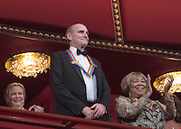 2016 Kennedy Center Honoree singer James Taylor waves at the beginning of the Kennedy Center Honors, at the Kennedy Center, December 4, 2016, Washington, DC.  The 2016 honorees are: Argentine pianist Martha Argerich; rock band the Eagles; screen and stage actor Al Pacino; gospel and blues singer Mavis Staples; and musician James Taylor. Photo Credit: Aude Guerrucci/CNP/AdMedia