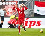 Nederland, Enschede, 4 november 2012.Eredivisie.Seizoen 2012-2013.FC Twente-Feyenoord .Luc Castaignos van FC Twente juicht nadat hij de 2-0 heeft gescoord.