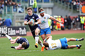 17th March 2018, Stadio Olimpico, Rome, Italy; NatWest Six Nations rugby, Italy versus Scotland; Huw Jones of Scotland runs with the ball
