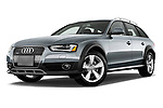 Stock pictures of low aggressive front three quarter view of 2013-2016 Audi A4 Allroad Premium Quattro 4 Door Wagon