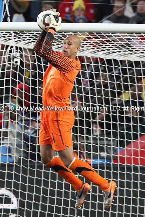 18 JUN 2010:  Tim Howard (USA)(1).  The Slovenia National Team tied the United States National Team 2-2 at Ellis Park Stadium in Johannesburg, South Africa in a 2010 FIFA World Cup Group C match.