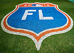 3 March 2016: A freshly painted Florida Spring Training logo is seen on the grass prior to a pre-season game between the New York Mets and the Washington Nationals at Space Coast Stadium in Viera, Florida. The Nationals defeated the Mets 9-4 in Grapefruit League play. Mandatory Credit: Ed Wolfstein Photo *** RAW (NEF) Image File Available ***