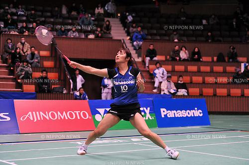Eriko Hirose, DECEMBER 9, 2011 - Badminton : 65th All Japan Badminton Championships Women's Singles at Yoyogi 2nd Gymnasium in Tokyo, Japan. (Photo by Jun Tsukida/AFLO SPORT) [0003]