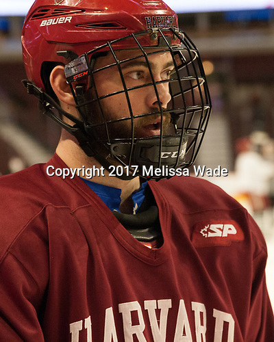 Luke Esposito (Harvard - 9) - The Harvard University Crimson practiced at the United Center on Wednesday, April 5, 2017, in Chicago, Illinois.
