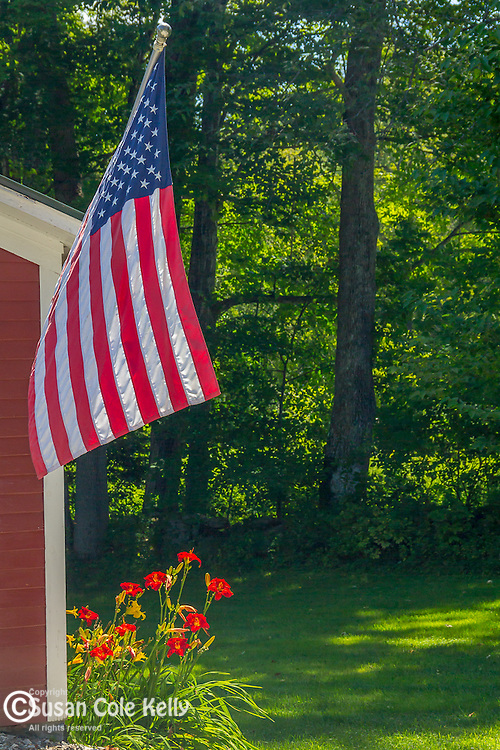 A flag in Grafton, Vermont, USA