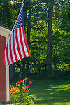 A flag in Grafton, Vermont, USA