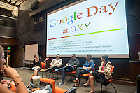The Career Development Center hosts Google Day, featuring a panel of alumni who work for Google. Sept. 25, 2014 in Choi Auditorium.<br /> (Photo by Marc Campos, Occidental College Photographer)