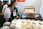 Visitors look at the latest technology products for food processing at the International Food Machinery & Technology Exhibition ''FOOMA JAPAN'' 2016 in Tokyo Big Sight on June 7, 2016, Tokyo, Japan. FOOMA JAPAN showcases the latest products and services for food processing in 6 halls of the exhibition center. The show is organised by the collaboration of 53 food related industry organisations and runs from June 7 to 10. (Photo by Rodrigo Reyes Marin/AFLO)