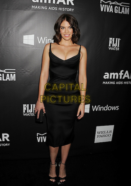 HOLLYWOOD, CA- OCTOBER 29: Actress Lauren Cohan attends amfAR LA Inspiration Gala honoring Tom Ford at Milk Studios on October 29, 2014 in Hollywood, California.<br /> CAP/ROT/TM<br /> &copy;TM/ROT/Capital Pictures