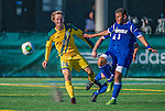18 September 2013: University of Vermont Catamount Midfielder Jackson Dayton, a Freshman from San Francisco, CA, in action against the Hofstra University Pride at Virtue Field in Burlington, Vermont. The Catamounts defeated the visiting Pride 2-1. Mandatory Credit: Ed Wolfstein Photo *** RAW (NEF) Image File Available ***