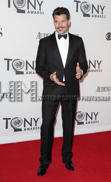 Ricky Martin pictured at the 66th Annual Tony Awards held at The Beacon Theatre in New York City , New York on June 10, 2012. © Walter McBride / WM Photography