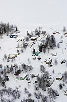 Aerial of Grayling Village Chkpt Yukon River Iditarod 2005