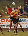 07/01/2006         Copyright Pic: James Stewart.File Name : sct_jspa01_alloa_v_livingston.GABOR VINCZE AND DAVID MACKAY COMBINE TO FORCE OUT FRASER FORREST....Payments to :.James Stewart Photo Agency 19 Carronlea Drive, Falkirk. FK2 8DN      Vat Reg No. 607 6932 25.Office     : +44 (0)1324 570906     .Mobile   : +44 (0)7721 416997.Fax         : +44 (0)1324 570906.E-mail  :  jim@jspa.co.uk.If you require further information then contact Jim Stewart on any of the numbers above.........