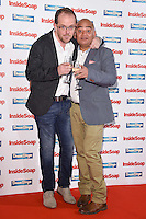 Liam Fox and Bhasker Patel<br /> at the Inside Soap Awards 2016 held at the Hippodrome Leicester Square, London.<br /> <br /> <br /> ©Ash Knotek  D3157  03/10/2016