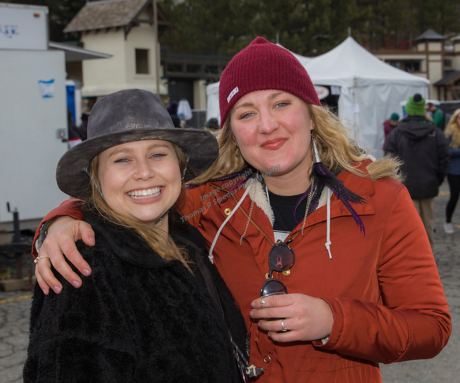 Festival goers enjoy the WinterWonderGrass event on Saturday, April 7, 2018 in Squaw Valley, Ca.