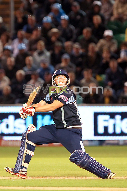 PICTURE BY ALEX WHITEHEAD/SWPIX.COM - Cricket -  FriendsLife T20 Final - Yorkshire Carnegie v Hampshire Royals - Swalec Stadium, Cardiff, Wales - 25/08/12 - Yorkshire's Gary Ballance hits out.