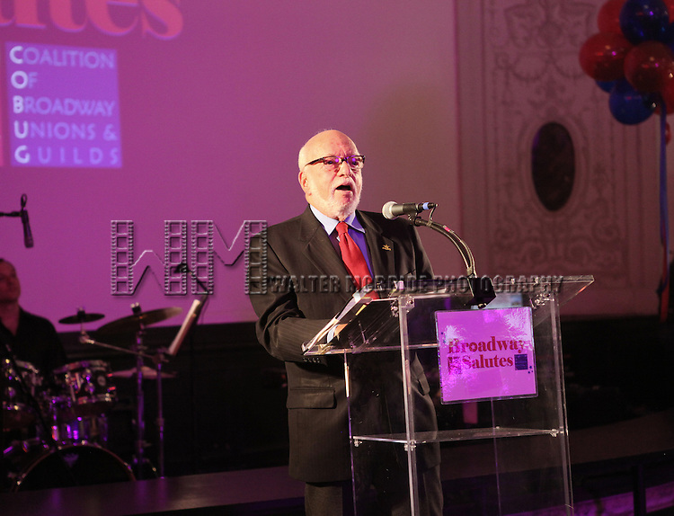 Hal Prince attending the 'Broadway Salutes' honoring those who make Broadway Great at the Timers Square Visitors Center in Times Square,  New York City on 9/20/2012.