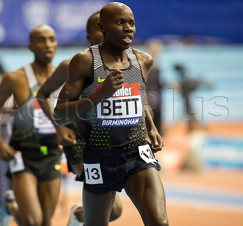 February 18th 2017,  Birmingham, Midlands, England; IAAF The Müller Indoor Grand Prix Athletics meeting; Reuben Bett (KEN) competing in the final of the Men's 1500 Metres