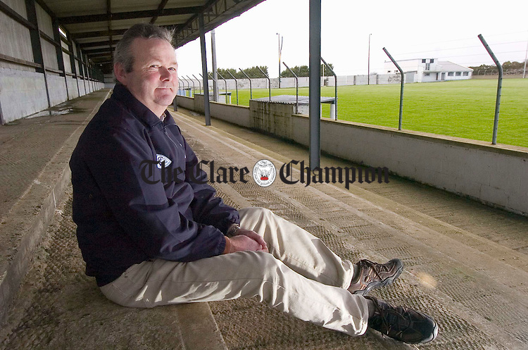 Gerry Kelly photographed at the GAA pitch in Cooraclare. Photograph by John Kelly.