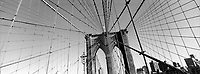 UNITED STATES / New York / April 2002..A view of the Brookyln Bridge...© Davin Ellicson / Anzenberger