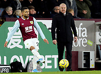 Burnley's Aaron Lennon and manager Sean Dyche<br /> <br /> Photographer Rich Linley/CameraSport<br /> <br /> The Premier League - Burnley v Crystal Palace - Saturday 30th November 2019 - Turf Moor - Burnley<br /> <br /> World Copyright © 2019 CameraSport. All rights reserved. 43 Linden Ave. Countesthorpe. Leicester. England. LE8 5PG - Tel: +44 (0) 116 277 4147 - admin@camerasport.com - www.camerasport.com