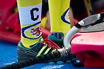 Mannheim, Deutschland, March 30: Eintracht Braunschweig hockey socks during the match between the Mannheimer HC and Eintracht Braunschweig on March 30, 2014 at Mannheimer Hockey Club in Mannheim, Deutschland. Final score 2:2 (1:2) (Photo by Dirk Markgraf / www.265-images.com) *** Local caption ***