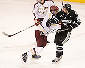 Patrick Wey (BC - 6), Rob Maloney (PC - 18) - The Boston College Eagles defeated the Providence College Friars 7-0 on Saturday, February 25, 2012, at Kelley Rink at Conte Forum in Chestnut Hill, Massachusetts.