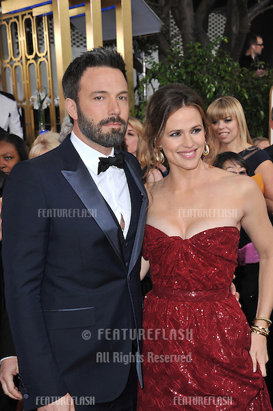 Ben Affleck & Jennifer Garner at the 70th Golden Globe Awards at the Beverly Hilton Hotel..January 13, 2013  Beverly Hills, CA.Picture: Paul Smith / Featureflash