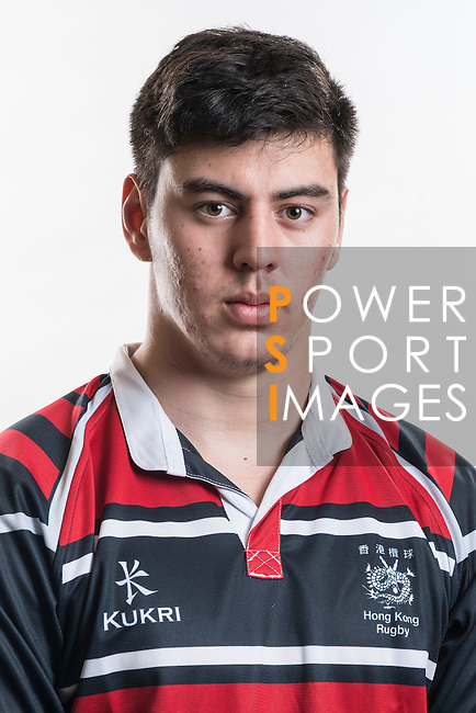 Hong Kong Junior Squad team member Andrew Purton poses during the Official Photo Session Day at King's Park Sports Ground ahead the Junior World Rugby Tournament on 25 March 2014. Photo by Andy Jones / Power Sport Images