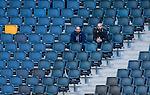 Solna 2014-05-05 Fotboll Allsvenskan AIK - Helsingborgs IF :  <br /> Publik och tomma stolar p&aring; l&auml;ktare i Friends Arena under matchen<br /> (Foto: Kenta J&ouml;nsson) Nyckelord:  Friends Arena AIK Gnaget HeIF HIF Helsingborg supporter fans publik supporters inomhus interi&ouml;r interior