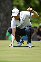 Martin Kaymer (GER) looks over his putt on 2 during round 3 of the 2019 Charles Schwab Challenge, Colonial Country Club, Ft. Worth, Texas,  USA. 5/25/2019.<br /> Picture: Golffile | Ken Murray<br /> <br /> All photo usage must carry mandatory copyright credit (© Golffile | Ken Murray)