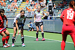 The Hague, Netherlands, June 13: Hannah Krueger #15 of Germany looks on during the field hockey placement match (Women - Place 7th/8th) between Korea and Germany on June 13, 2014 during the World Cup 2014 at Kyocera Stadium in The Hague, Netherlands. Final score 4-2 (2-0)  (Photo by Dirk Markgraf / www.265-images.com) *** Local caption ***