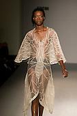 15-20 September 2007, London/UK, London Fashion Week. Steph Aman with Rizvi Millinery - on/off presents