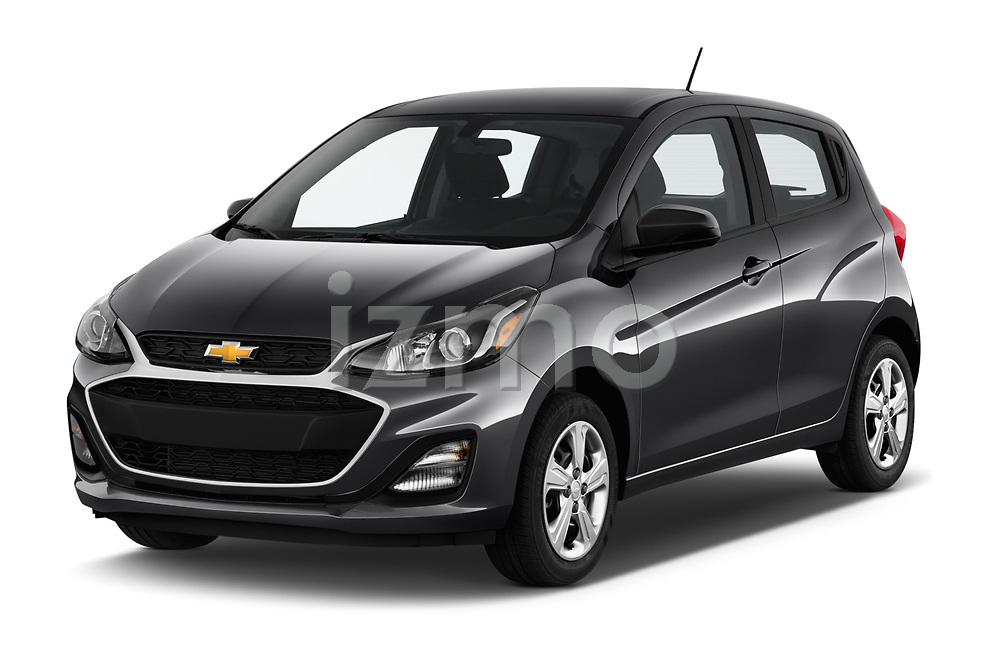 2020 Chevrolet Spark LS Select Doors Door Hatchback angular front stock photos of front three quarter view
