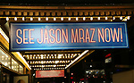 "Theatre Marquee for Jason Mraz Debut In Broadway's ""Waitress"" at The Brooks Atkinson Theatre on November 3, 2017 in New York City."