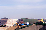 Twyford down road protest ,land clearance of the chalk cutting.M3 extension Winchester.