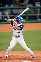 19 August 2007: Left Field #24 Gaspard Fessy is seen at bat during the Japan 4-3 victory over France in the Good Luck Beijing International baseball tournament (olympic test event) at the Wukesong Baseball Field in Beijing, China.
