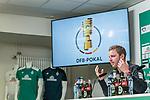 04.02.2019, Weserstadion, Bremen, GER, DFB-Pokal, PK SV Werder Bremen<br /> <br /> im Bild <br /> Florian Kohfeldt (Trainer SV Werder Bremen) <br /> bei PK / Pressekonferenz vor dem DFB-Pokal Auswärts-Spiel gegen BVB Borussia Dortmund, <br /> <br /> Foto © nordphoto / Ewert