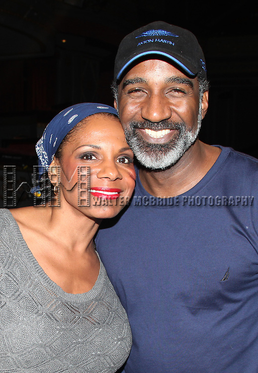 Audra McDonald & Norm Lewis.attending the Opening Night Performance Gypsy Robe Ceremony for 'The Gershwins' Porgy & Bess' Recipient J.D. Webster at the Richard Rodgers Theatre in New York City. 1/12/2012