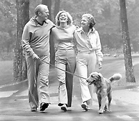President Gerald Ford and First Lady Betty Ford with Susan and Liberty at Camp David.  7 August 1976<br /> <br /> PHOTO: David Hume Kennerly