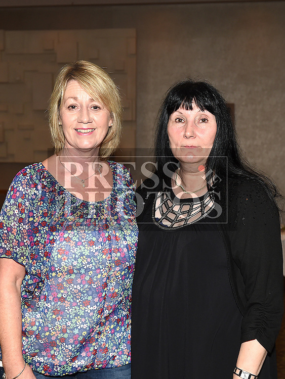 Majella Taaffe and Melissa Heavey pictured at the Garth Brooks Experience at City North hotel. Photo:Colin Bell/pressphotos.ie