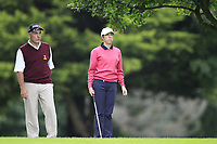 Jan and Kay Gilbert (Malone) during the final  of the Ulster Mixed Foursomes at Killymoon Golf Club, Belfast, Northern Ireland. 26/08/2017<br /> Picture: Fran Caffrey / Golffile<br /> <br /> All photo usage must carry mandatory copyright credit (&copy; Golffile   Fran Caffrey)