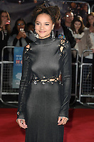 LONDON, ENGLAND. October 7, 2016: Sasha Lane at the London Film Festival premiere for &quot;American Honey&quot; at the Odeon Leicester Square, London.<br /> Picture: Steve Vas/Featureflash/SilverHub 0208 004 5359/ 07711 972644 Editors@silverhubmedia.com