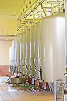 Fermentation tanks. Chateau Phelan-Segur, Saint Estephe, Medoc, Bordeaux, France