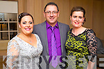 Erin Molloy (Lixnaw) Derek Molloy (Lixnaw) and Jean Andrews (Tralee) pictured at the Hats and Heels fundraiser event on Saturday night in Ballygarry House Hotel & Spa, Tralee.