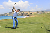 Yassine Touhami (MAR) during the second round of the Rocco Forte Sicilian Open played at Verdura Resort, Agrigento, Sicily, Italy 11/05/2018.<br /> Picture: Golffile | Phil Inglis<br /> <br /> <br /> All photo usage must carry mandatory copyright credit (&copy; Golffile | Phil Inglis)