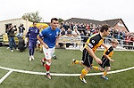Lee McCulloch first out for the visitors
