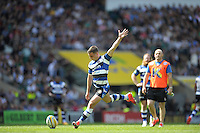 George Ford of Bath Rugby takes a penalty kick during the Aviva Premiership Rugby Final between Bath Rugby and Saracens at Twickenham Stadium on Saturday 30th May 2015 (Photo by Rob Munro)